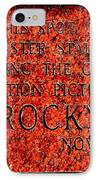 Pats Steaks - Rocky Plaque IPhone Case by Benjamin Yeager