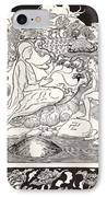 Pau Amma The Crab Running Away While The Eldest Magician Was Talking To The Man And His Little Girl  IPhone Case by Joseph Rudyard Kipling
