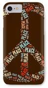 Peace Symbol Retro - 0103b  IPhone Case