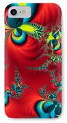 Peacock Fractal IPhone Case by Ian Mitchell