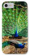 Peacocking IPhone Case