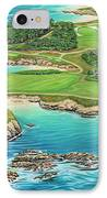 Pebble Beach 15th Hole-south IPhone Case