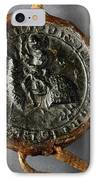 Pendent Wax Seal Of The Council Of Calahorra IPhone Case