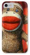 Performing Sock Monkey IPhone Case