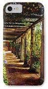 Pergola Walkway IPhone Case by David Lloyd Glover