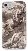 Perseus Cuts Off Medusa's Head IPhone Case by Bernard Picart
