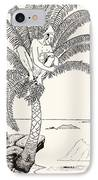 Pestonjee Bomonjee Sitting In His Palm-tree And Watching The Rhinoceros Strorks Bathing IPhone Case