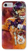 Peyton Manning Abstract 2 IPhone Case by David G Paul