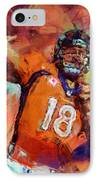 Peyton Manning Abstract 4 IPhone Case