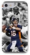 Peyton Manning Broncos IPhone Case by Joe Hamilton