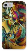 Picked Up By The Wind IPhone Case by Klara Acel