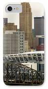 Picture Of Cincinnati Skyline Office Buildings  IPhone Case by Paul Velgos