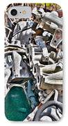 Piles Of Engines - Automotive Recycling IPhone Case by Crystal Harman