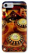 Pinball All Seeing Eye IPhone Case by Benjamin Yeager