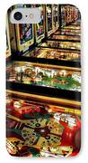 Pinball Arcade IPhone Case by Benjamin Yeager