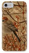 Pine Grosbeak IPhone Case by Tammy  Taylor