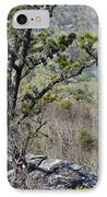 Pine Tree On A Mountain IPhone Case by Susan Leggett
