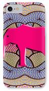 Pink Elephant IPhone Case by Patrick J Murphy