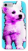Pink Westie - West Highland Terrier Art By Sharon Cummings IPhone Case