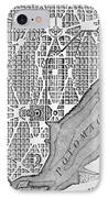 Plan Of The City Of Washington As Originally Laid Out In 1793 IPhone Case by American School