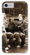 Playing Jazz In New Orleans IPhone Case