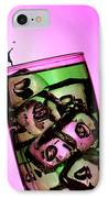 Playing Tennis On A Cup Of Lemonade Little People On Food IPhone Case