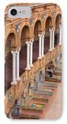 Plaza De Espana Colonnade In Seville IPhone Case by Artur Bogacki