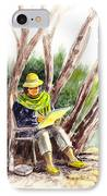 Plein Air Artist At Work IPhone Case by Irina Sztukowski