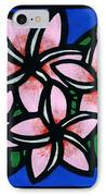Plumeria IPhone Case by Lisa Greig