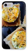 Poached Eggs On A Raft IPhone Case by Andee Design
