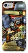 Police Officer - Chasing The American Gangster IIi IPhone Case by Lee Dos Santos