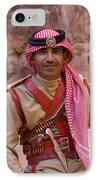 Policeman In Petra Jordan IPhone Case by David Smith