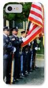 Policeman - Police Color Guard IPhone Case by Susan Savad