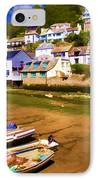 Polperro At Low Tide IPhone Case by David Smith