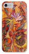Polyptich Part IIi - Fire IPhone Case
