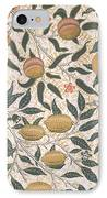 Pomegranate Design For Wallpaper IPhone Case by William Morris