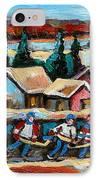 Pond Hockey 2 IPhone Case by Carole Spandau
