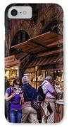 Ponte Vecchio Merchants - Florence IPhone Case by Jon Berghoff