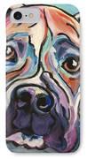 Pop Art Boxer IPhone Case by Robin Wiesneth