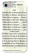 Pope Francis St. Francis Simple Prayer IPhone Case by Desiderata Gallery
