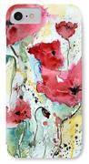 Poppies 05 IPhone Case by Ismeta Gruenwald