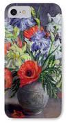 Poppies And Irises IPhone Case