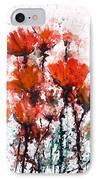 Poppy Splashes IPhone Case