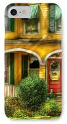 Porch - Cranford Nj - A Yellow Classic  IPhone Case