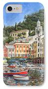 Portofino Italy IPhone Case by Mike Rabe