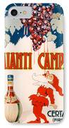 Poster Advertising Chianti Campani IPhone Case by Necchi