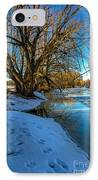 Poudre River Ice IPhone Case by Baywest Imaging