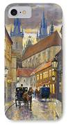 Prague Old Street Stupartska IPhone Case by Yuriy Shevchuk