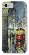 Praha Red Tram Mostecka Str  IPhone Case by Yuriy  Shevchuk