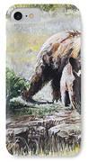 Prairie Black Bears IPhone Case by Aaron Spong